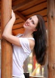 Menina bonita com cabelo saudável Fotos de Stock Royalty Free