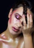 Menina bonita com composição da forma Foto de Stock Royalty Free