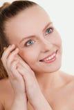 Menina bonita com composição natural Fotos de Stock