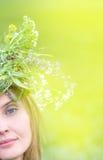 A menina bonita com olhos azuis Imagem de Stock