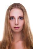 Menina bonita com olhos azuis grandes Fotos de Stock Royalty Free