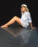 Menina bonita com pés lisos Fotos de Stock