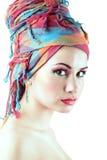 Menina bonita com pele limpa e composição. Fotografia de Stock Royalty Free