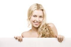 Menina bonita com sorriso bonito Fotografia de Stock