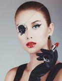 Menina bonita com tatuagem Imagens de Stock Royalty Free