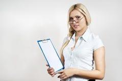 Menina bonita com um dobrador imagem de stock royalty free