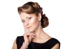 Menina bonita com um hairdo requintado Imagem de Stock