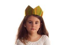 Menina bonita com uma coroa sobre Fotos de Stock