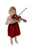 Menina bonita com violino Imagens de Stock