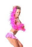 Menina bonita com xaile cor-de-rosa Imagens de Stock
