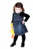 Menina bonita da criança com mão nos quadris Fotografia de Stock Royalty Free