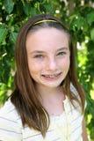 Menina bonita da escola fotografia de stock royalty free