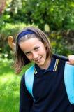Menina bonita da escola Foto de Stock Royalty Free