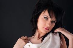 Menina bonita da forma Fotografia de Stock