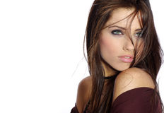 Menina bonita da forma Fotografia de Stock Royalty Free