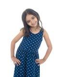Menina bonita da forma que levanta para a foto Foto de Stock