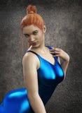 menina bonita da ilustração 3D Imagens de Stock Royalty Free