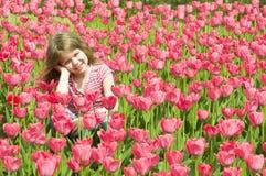 Menina bonita da mola imagens de stock royalty free
