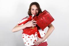 Menina bonita de sorriso à moda Foto de Stock Royalty Free