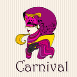 Menina bonita do carnaval Imagem de Stock