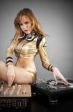 Menina bonita do DJ Fotos de Stock
