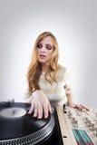 Menina bonita do DJ Imagens de Stock Royalty Free