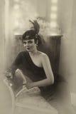 Menina bonita do Flapper imagem de stock royalty free