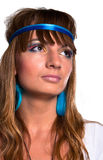 Menina bonita do hippie Imagens de Stock Royalty Free