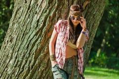 Menina bonita do hippie Fotos de Stock