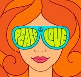 Menina bonita do hippie ilustração royalty free