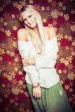 Menina bonita do hippie Fotografia de Stock Royalty Free