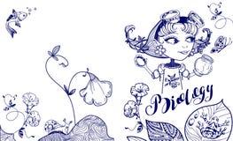 A menina bonita do lerdo trava a borboleta no frasco Molde de tampa para a biologia Imagens de Stock
