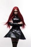Menina bonita do mal da senhora do goth fotografia de stock