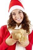 Menina bonita do Natal Imagens de Stock