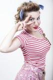 Menina bonita do pino-acima Imagens de Stock