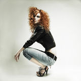 Menina bonita do redhead imagem de stock royalty free
