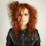 Menina bonita do redhead foto de stock