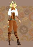 Menina bonita do steampunk Imagens de Stock Royalty Free