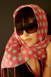 Menina bonita e à moda Fotografia de Stock