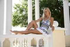 Menina bonita em férias Fotografia de Stock
