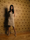 Menina bonita em papéis de parede Foto de Stock Royalty Free