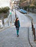 Menina bonita em Paris Fotografia de Stock