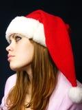 Menina bonita em um tampão de ano novo Foto de Stock Royalty Free