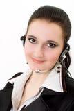 Menina bonita em um terno de negócio preto Fotografia de Stock Royalty Free