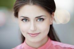 menina bonita em um tiro ao ar livre Fotografia de Stock
