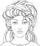 Menina bonita em um turbante Imagens de Stock