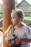 Menina bonita em uma camisa imagens de stock royalty free