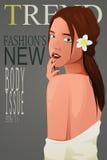 Menina bonita em uma capa de revista Imagem de Stock Royalty Free