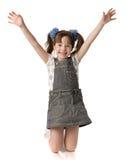 A menina bonita está em joelhos Fotos de Stock Royalty Free