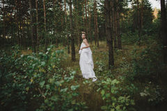 Menina bonita feericamente da floresta no branco Foto de Stock